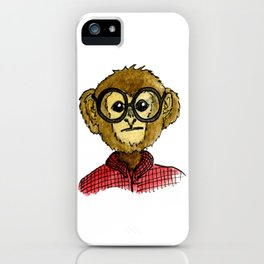 The Monkey with the Round Glasses iPhone Case