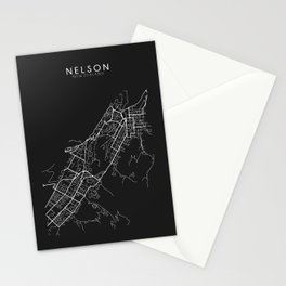 Nelson, New Zealand Street Map Stationery Cards