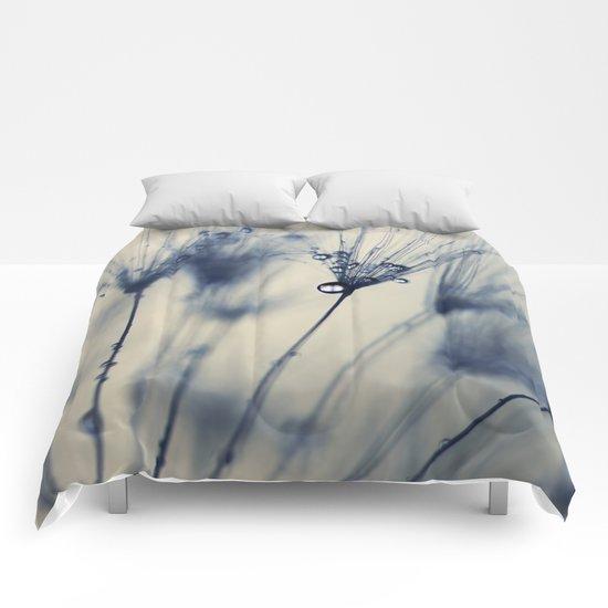 dandelion blue III Comforters