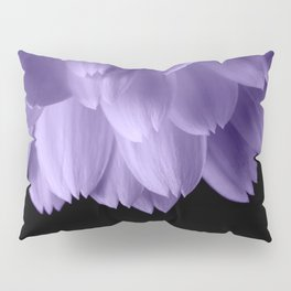 Ultra violet purple flower petals black Pillow Sham