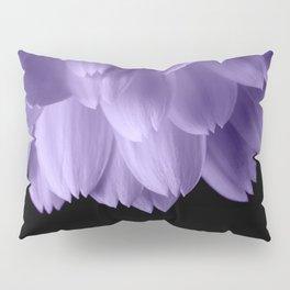 Ultra violet purple flower petals black Pillow Sham