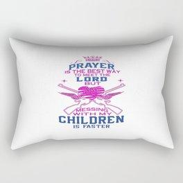 Messing with my Children Rectangular Pillow