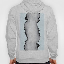 Light Blue Gray and Black Graphic Cloud Effect Hoody