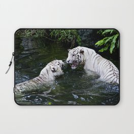 Tigers Fight Laptop Sleeve