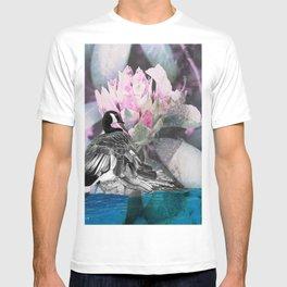 Goose flower collage T-shirt