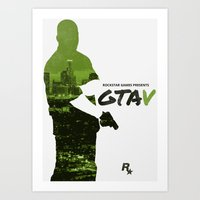 gta v Art Prints featuring City of Angels - GTA V by Samuel Barnett