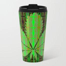 Marijuana Leaf Metal Travel Mug