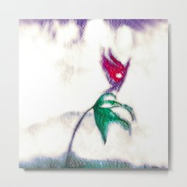 My red butterfly Metal Print