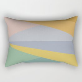Geometric Triangles - Pastel Rainbow Rectangular Pillow