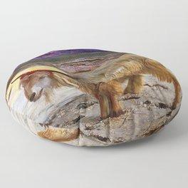 12,000pixel-500dpi - William Holman Hunt - The Scapegoat - Digital Remastered Edition Floor Pillow