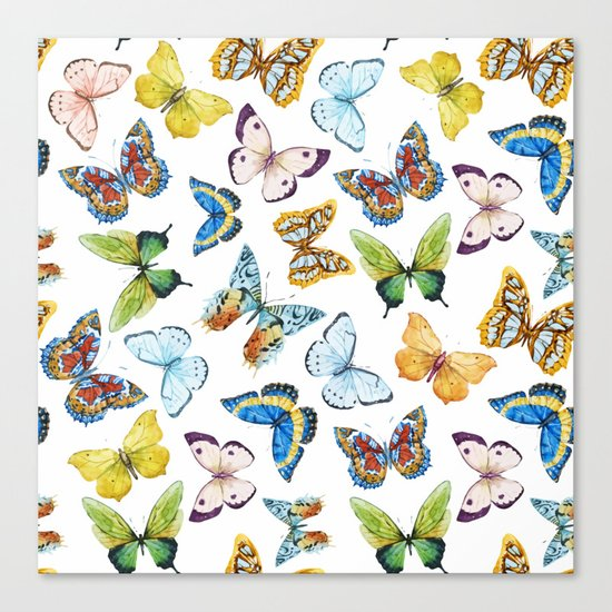 Butterfly Pattern 02 Canvas Print