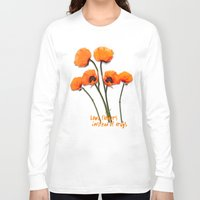 oriental Long Sleeve T-shirts featuring Oriental Poppies  by LudaNayvelt