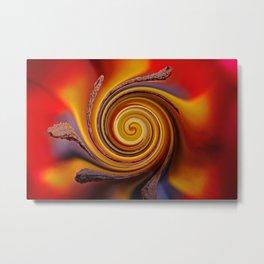 Orange Spiral Metal Print