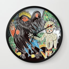 crow sundance Wall Clock