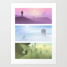 Planetscape Trilogy Art Print