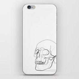 Skull Line Drawing iPhone Skin