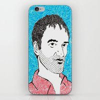 tarantino iPhone & iPod Skins featuring Quentin Tarantino by TSV89