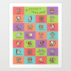 Difficult Feelings Art Print