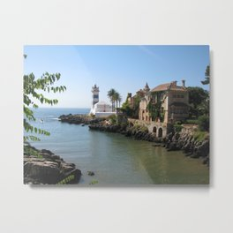 Cascais loved by the ocean Metal Print