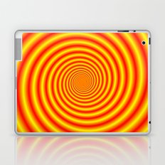 Yellow into Red via Orange Spiral Laptop & iPad Skin