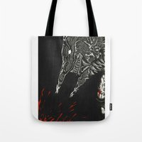 justice Tote Bags featuring Justice by Bryan Yentz