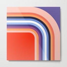 70s Stripes Rainbow 2 Metal Print