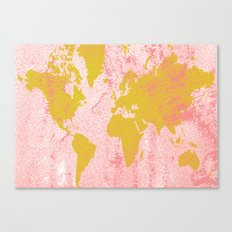 COME WITH ME AROUND THE WORLD Canvas Print