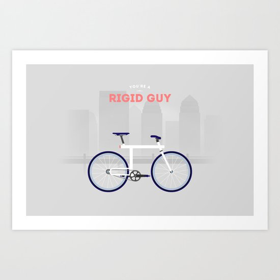 Rigid Guy Art Print