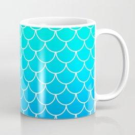 Aqua Mermaid Scales Coffee Mug