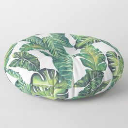 Jungle Leaves, Banana, Monstera II #society6 Floor Pillow