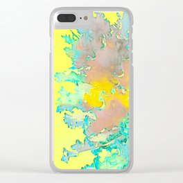 BOTANICA FANTASTICA YELLOW Clear iPhone Case