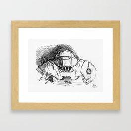 Warbot Sketch #046 Framed Art Print