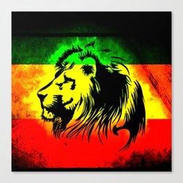 lion rasta Canvas Print
