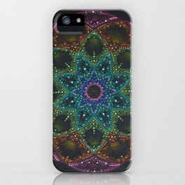 Bright colorful Mandala iPhone Case