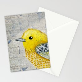 Yellow Warbler Tilly (Vintage Edition) Stationery Cards