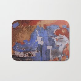 Abstract wall patchwork painting Bath Mat