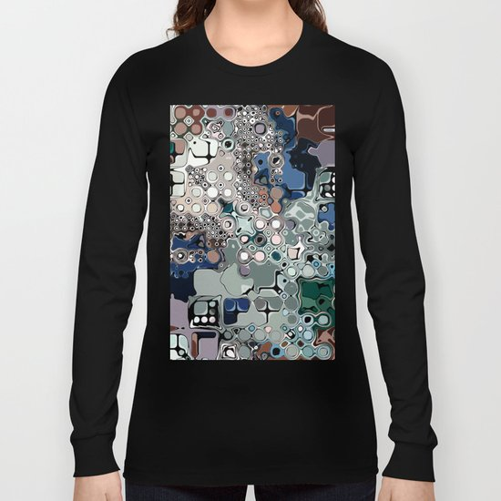 Colorful Chaotic Abstract Long Sleeve T-shirt