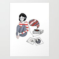 records Art Prints featuring records by Bunny Miele