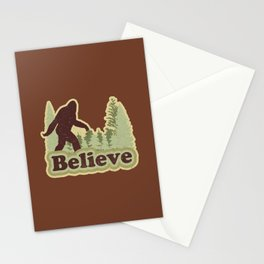 Bigfoot Believe Stationery Cards