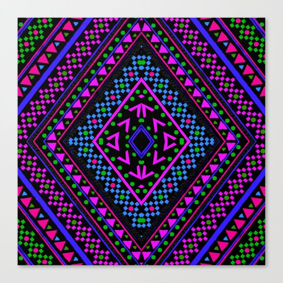 NEON PATTERN Canvas Print