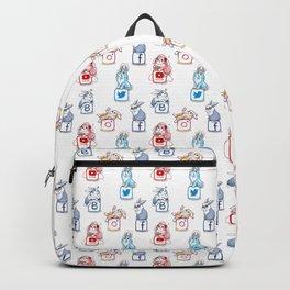Social networks buns pattern Backpack