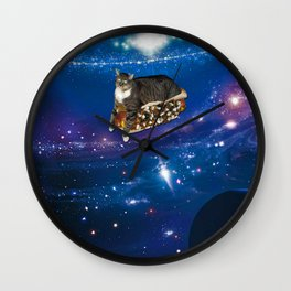 Floating on a Chili Dog Wall Clock