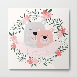 Beary Much Love You Metal Print