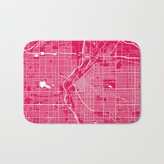 Denver map raspberrry Bath Mat