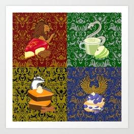Magical Fall Snacks Art Print