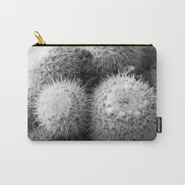 Black and White Cacti Carry-All Pouch