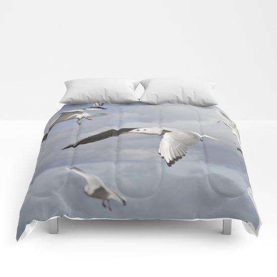 Flying Seagulls Comforters