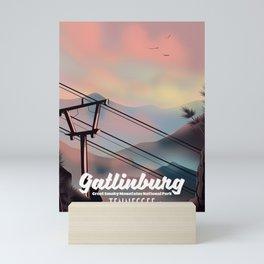 Gatlinburg travel poster Mini Art Print