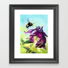 Bee flying 14 Framed Art Print