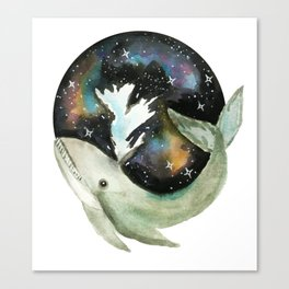 Galaxy Whale Canvas Print